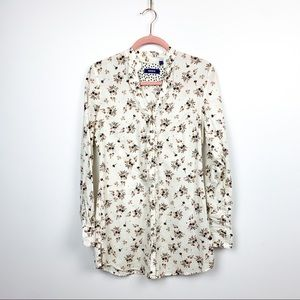 Mexx White Long Sleeve Floral Button-Up